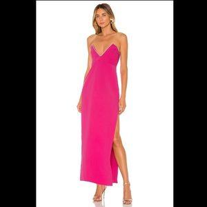 NBD Tarry Gown in Fuchsia